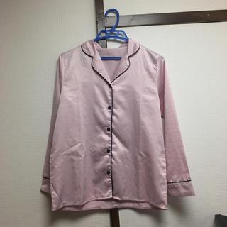 GU - ほぼ未使用 GU サテンパジャマ ピンク 長袖 再値下げ