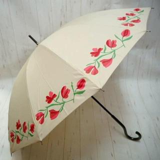 シビラ(Sybilla)のSybilla シビラ 12本骨 長傘 雨傘☆花柄 ベージュ③(傘)
