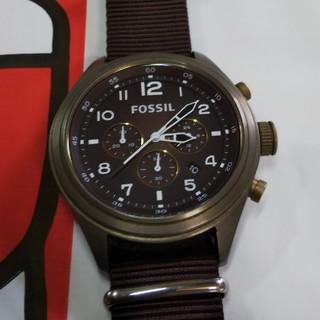 フォッシル(FOSSIL)のFOSSIL ダークブラウン 腕時計(腕時計(アナログ))
