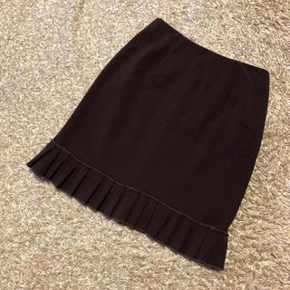 シビラ(Sybilla)の《シビラ/Sybilla》 ひざ丈 スカート Mサイズ ダークブラウン(ひざ丈スカート)