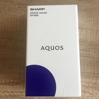 SHARP - 【新品】AQUOS sense2 SH-M08 ブラック simフリー