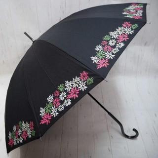 シビラ(Sybilla)のSybilla シビラ 12本骨 長傘 雨傘☆花柄 ブラック(傘)