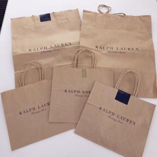 ラルフローレン(Ralph Lauren)のRALPH LAUREN♡定番ショッパー5枚♡持ち帰りのみ♡紙袋♡ラルフローレン(ショップ袋)