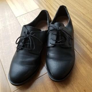 ヌォーボ(Nuovo)のNUOVO 革シューズ 紐つきブラックカラー(ローファー/革靴)
