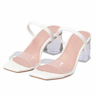 アリシアスタン(ALEXIA STAM)のALEXIA STAM Clear Heel Sandals White(サンダル)