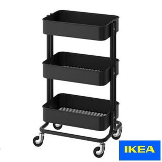 IKEA - IKEA キャスター付きワゴン RASKOG 黒