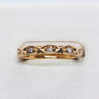 K18PG ローズカット ダイヤモンド リング D:0.10ct(リング(指輪))