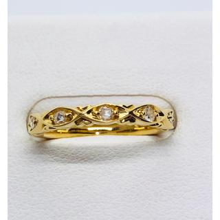 K18YG ローズカット ダイヤモンド リング  D:0.08ct(リング(指輪))