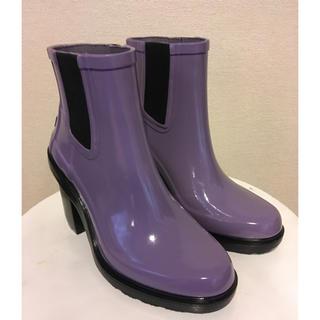 ハンター(HUNTER)の新品 HUNTER ハンター ハイヒール レインブーツ パープル(レインブーツ/長靴)