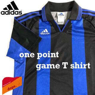 アディダス(adidas)の▼ 90s adidas one point game shirt ▼(Tシャツ/カットソー(半袖/袖なし))