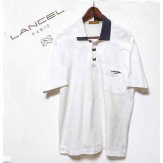 ランセル(LANCEL)のLANCEL PARIS ポロシャツ メンズ ホワイト 白ポロシャツ ゴルフ(ポロシャツ)