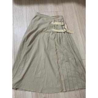 しまむら - リネンスカート 切り替えスカート 切り替え リネン リネンロングスカート
