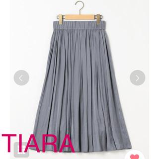 ティアラ(tiara)のTIARA ヴィンテージサテンスカート(ロングスカート)