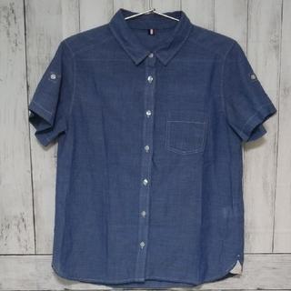 ジーユー(GU)のGU   デニム風半袖シャツ(シャツ/ブラウス(半袖/袖なし))
