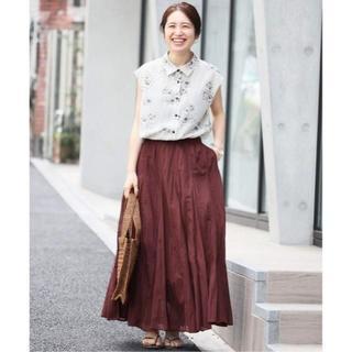 イエナ(IENA)のイエナ 新品タグ付 コットンボイルギャザーパネルスカート 38(ロングスカート)