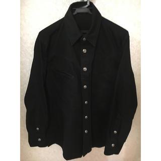 クロムハーツ(Chrome Hearts)のクロムハーツ デニムシャツ ブラック フレア二ーボタン(シャツ)
