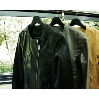 シップス(SHIPS)の値下げ中 本革 有名セレクトブランド ノーカラーレザージャケット(ライダースジャケット)