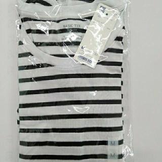 GU - 新品タグ付き M 長袖ボーダークルーネックTシャツ 綿100% 匿名配送