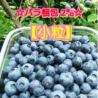 ☆生ブルーベリー☆【小粒】バラ梱包 2㌔(フルーツ)