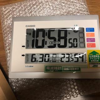 カシオ(CASIO)のカシオ CASIO 電波掛け時計 IDL-140J-7JF(掛時計/柱時計)