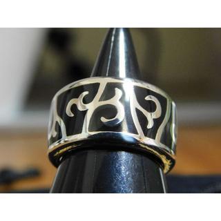 新品未使用 セインツ ステンドグラス ブラック リング 11号(リング(指輪))