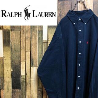 ラルフローレン(Ralph Lauren)の【激レア】ラルフローレン☆USA製ワンポイントチノスーパービッグシャツ 90s(シャツ)