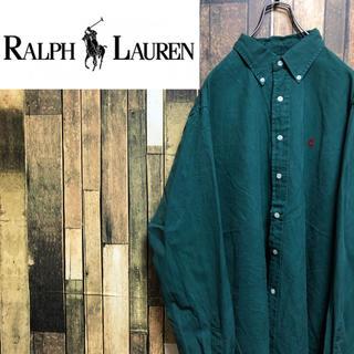 ラルフローレン(Ralph Lauren)の【激レア】ラルフローレン☆ワンポイント刺繍ロゴ入りボタンダウンシャツ 90s(シャツ)