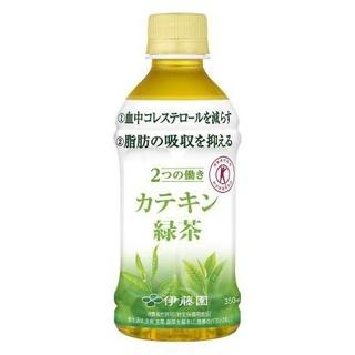 イトウエン(伊藤園)の【送料無料】カテキン緑茶 350mL×24本 2ケース(健康茶)
