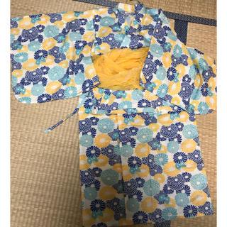 アンパサンド(ampersand)のampersand☆ちょうちょ&お花柄ゆかた140(甚平/浴衣)