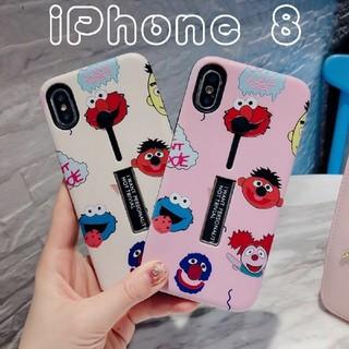 セサミストリート(SESAME STREET)のiPhoneケース セサミストリート スタッキング 8(ピンク)(iPhoneケース)