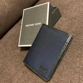 マイケルコース(Michael Kors)のマイケルコース 紺 折り財布(折り財布)
