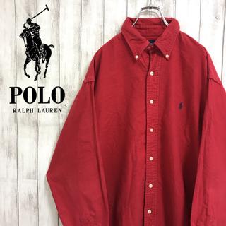 ラルフローレン(Ralph Lauren)の90s 古着 ラルフローレン ワンポイント刺繍ロゴ ビッグシルエット BDシャツ(シャツ)