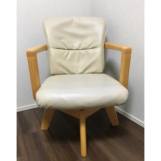 ニトリ(ニトリ)のここほれわんわん様 専用  回転式  肘付きダイニングチェア 椅子(ダイニングチェア)