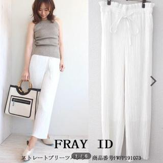 フレイアイディー(FRAY I.D)のFRAY I.D 完売 ストレートプリーツパンツ 今期 19SS(カジュアルパンツ)
