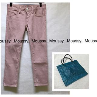 マウジー(moussy)の美品 MOUSSY クロップドスキニージーンズ26/ローライズ:スモーキーピンク(デニム/ジーンズ)