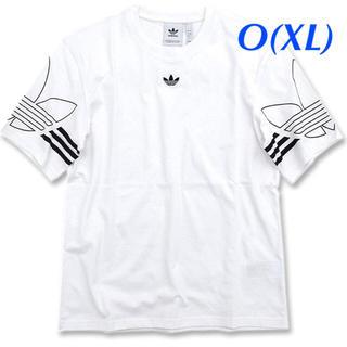 アディダス(adidas)の【メンズO(XL)】白  アウトラインTシャツ(Tシャツ/カットソー(半袖/袖なし))