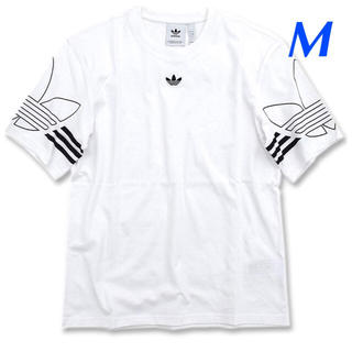 アディダス(adidas)の【メンズM】白  アウトラインTシャツ(Tシャツ/カットソー(半袖/袖なし))