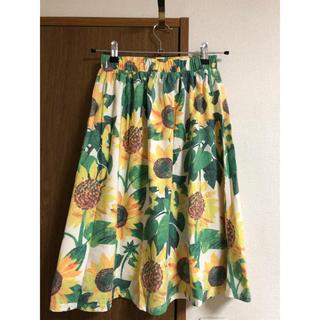 グラニフ(Graniph)のグラニフ はらぺこあおむし向日葵スカート(ひざ丈スカート)
