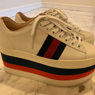 グッチ(Gucci)のGUCCI グッチ スニーカー 靴 ハイヒール マルチカラー  34ハーフ(スニーカー)