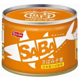 ニッスイ スルっとSABA さば味噌煮 国内産 150g x24  (缶詰/瓶詰)