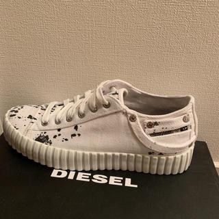 ディーゼル(DIESEL)のsummer sale!DIESEL ホワイトスニーカー 39EU(スニーカー)