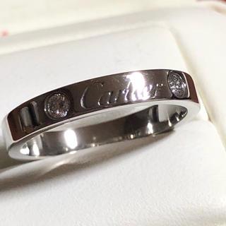 カルティエ(Cartier)のほぼ新品 カルティエ エングレーブド ダイヤ 2P リング(リング(指輪))