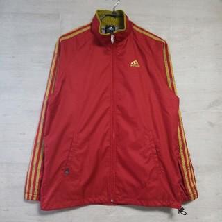 アディダス(adidas)のadidas アディダス ブルゾン ナイロンジャケット 赤 L(ナイロンジャケット)