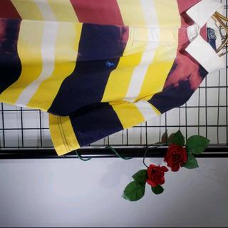 ラルフローレン(Ralph Lauren)のRALPH LAUREN ラガーシャツ アシメントリー加工 黄色ワインレッド(ポロシャツ)