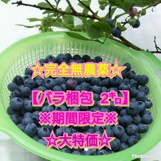 ☆生ブルーベリー☆【大特価】バラ梱包 2㌔(フルーツ)