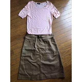 イネド(INED)の【セット売り】INEDトップス カーゴ風スカート(ひざ丈スカート)