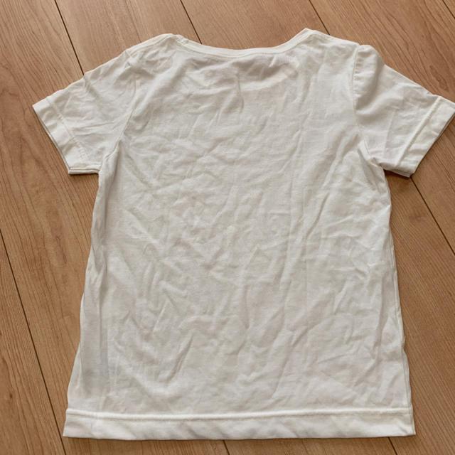 GU(ジーユー)の無地 白シャツ キッズ/ベビー/マタニティのキッズ服 女の子用(90cm~)(Tシャツ/カットソー)の商品写真