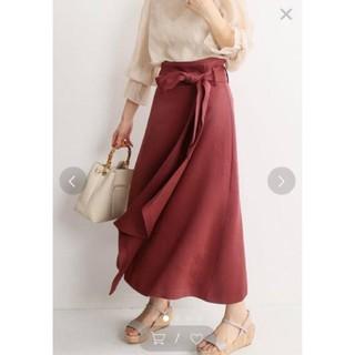 ノーブル(Noble)の値札付き2019ss【Noble】新品ラップスカート 黄34(ひざ丈スカート)