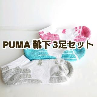 PUMA レディース 靴下3足セット 23~25cm