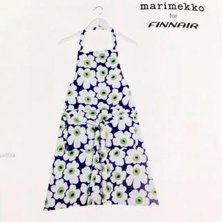 マリメッコ(marimekko)のマリメッコ フィンエアー 限定 エプロン 希少(収納/キッチン雑貨)